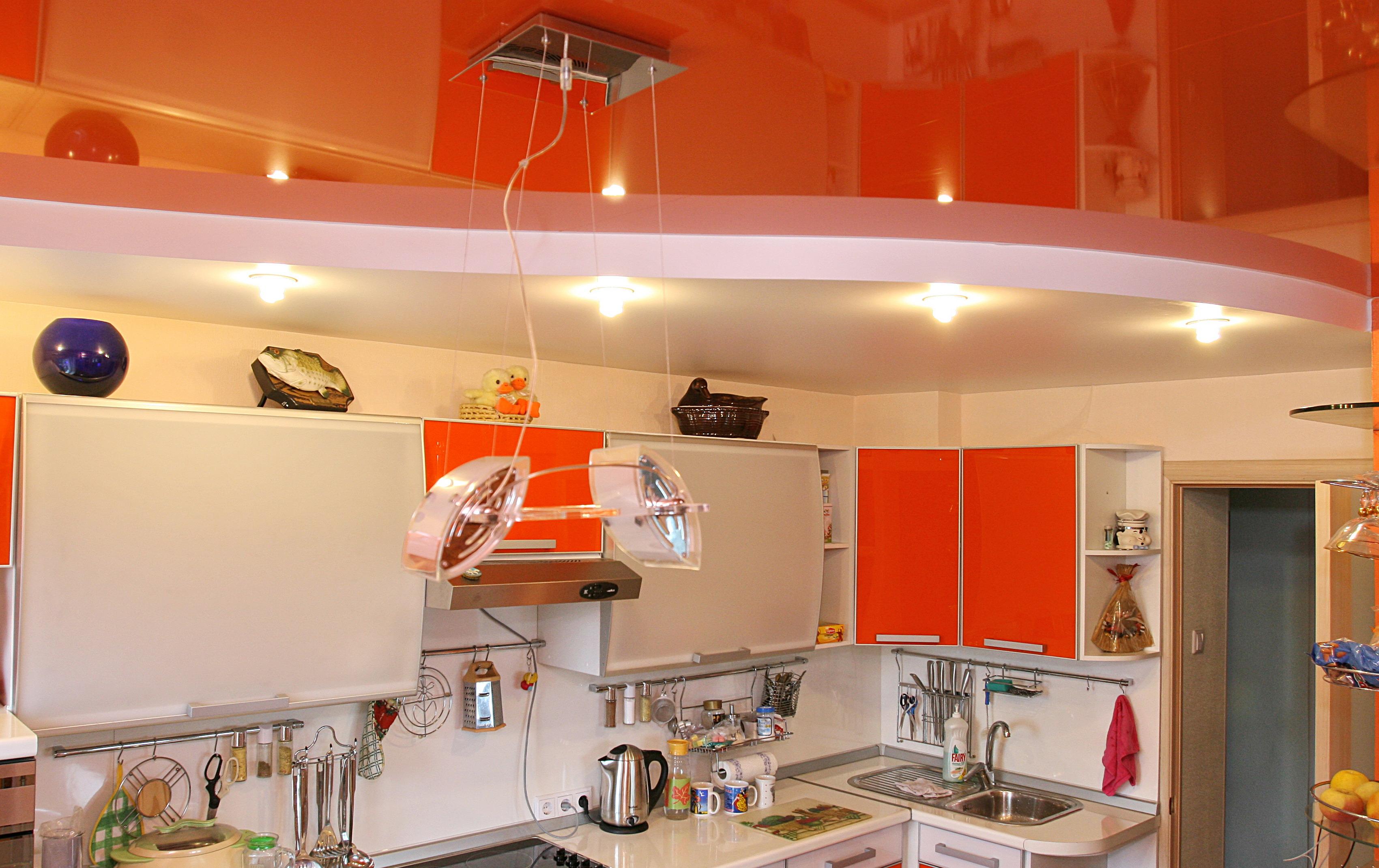 Натяжные потолки цены фото кухня